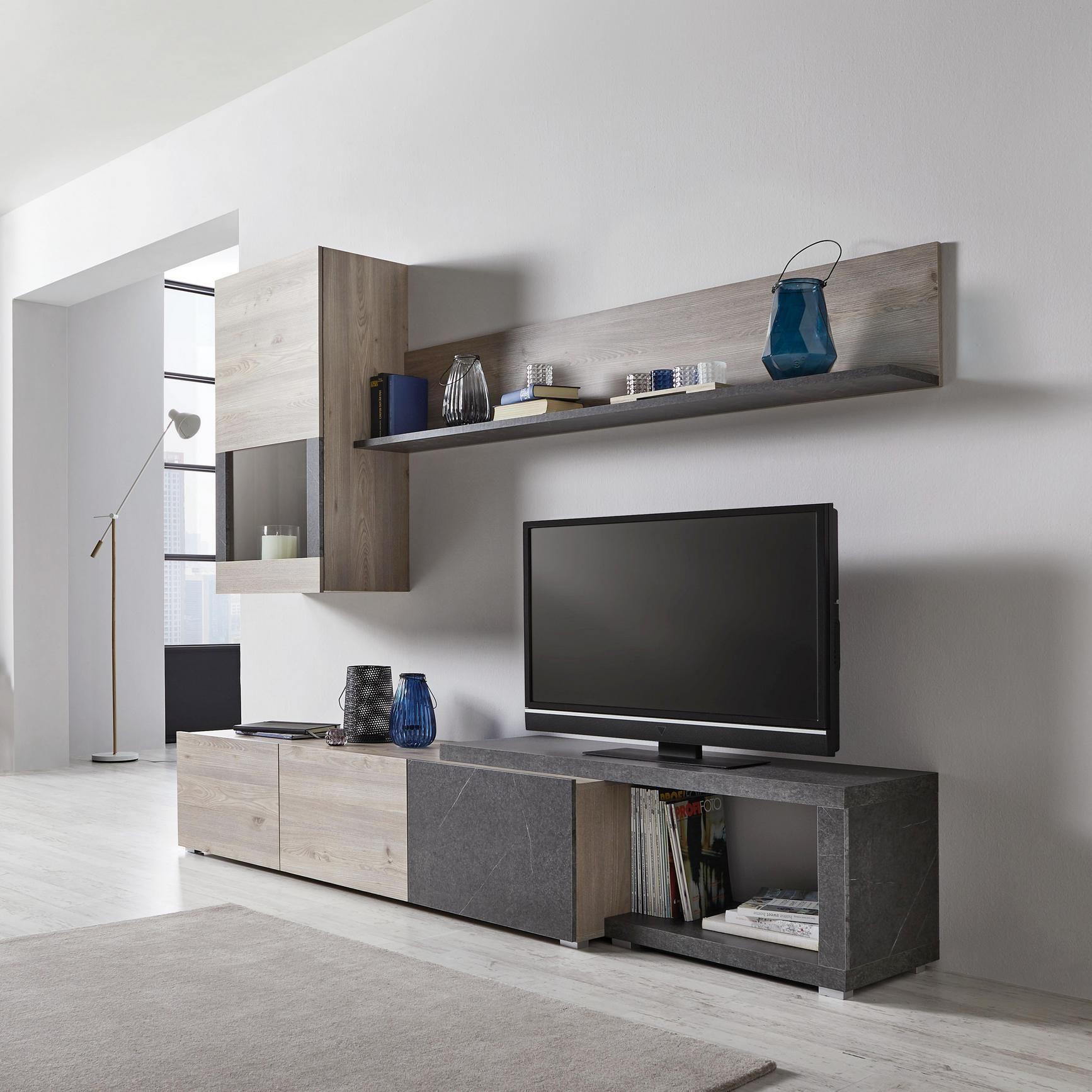 Wohnwand Two online kaufen mömax   Wohnwand kaufen, Wohnwand, Wohnzimmermöbel