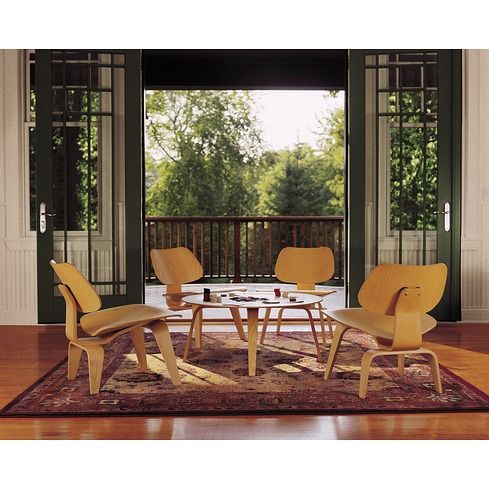 Eames Molded Plywood Table and Lounge Chairs - Herman Miller