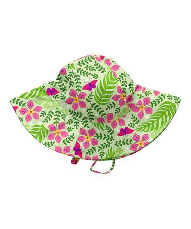 Another great find on #zulily! Lime Palm Garden Swim Reversible Sun Hat #zulilyfinds