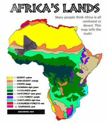 Geography 1: Here is a picture of the continent of Africa. On this