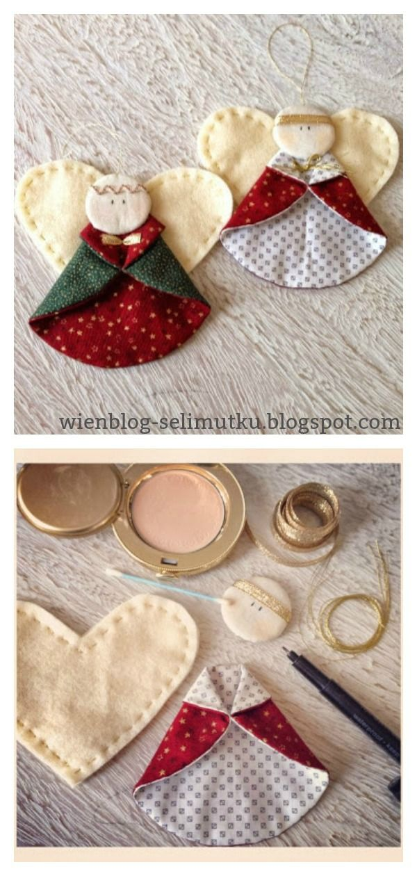 Photo of Christmas Angel Ornaments Free Sewing Pattern