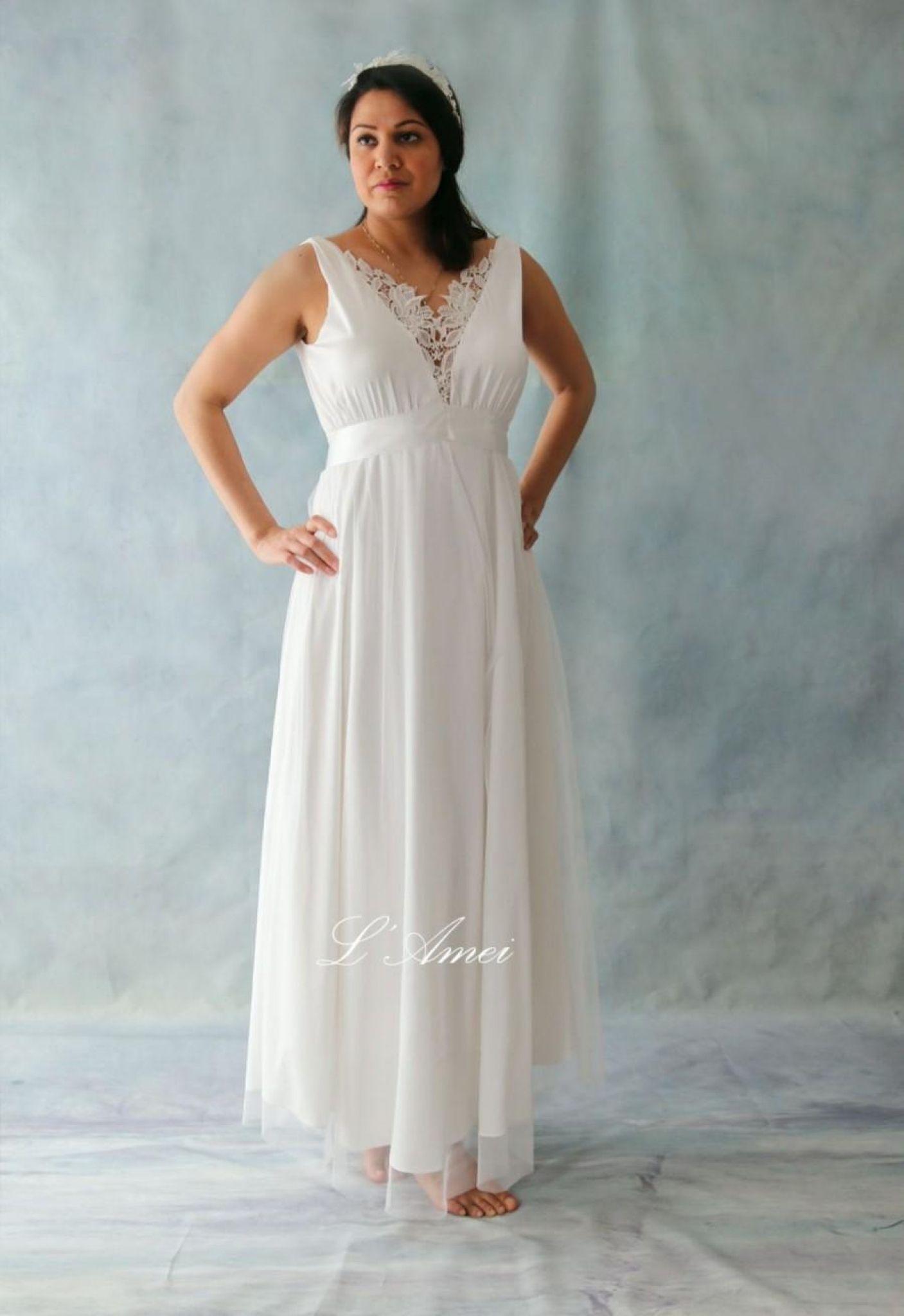 Cotton simple wedding dresses