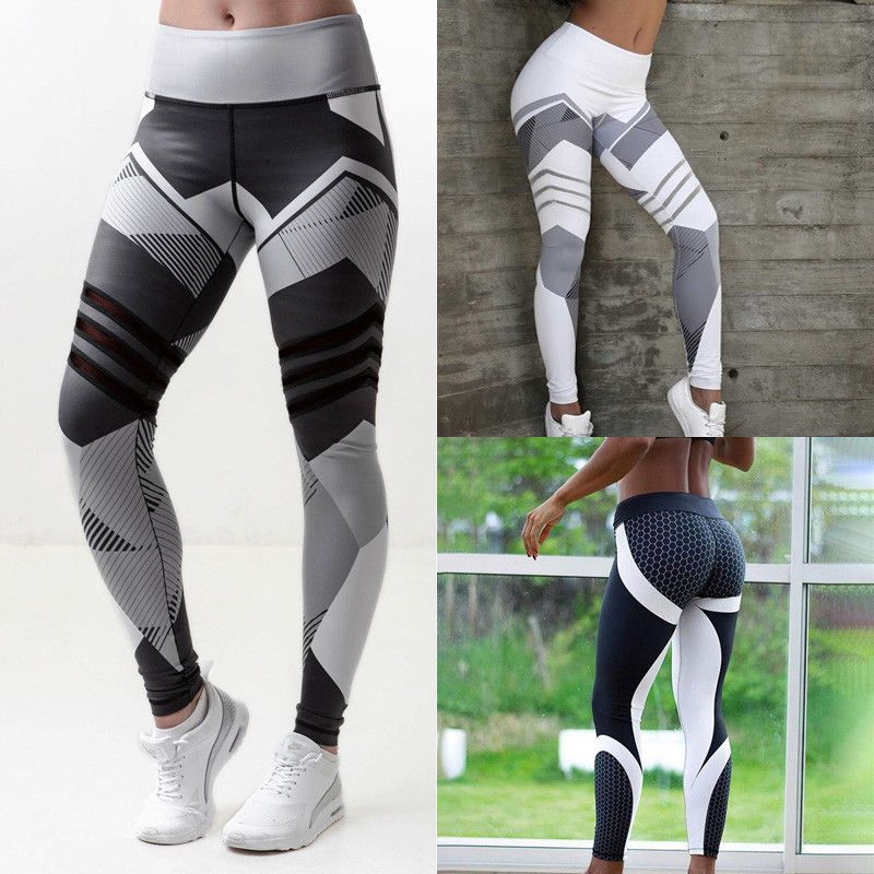 Sport Womens Compression Fitness Leggings Running Yoga Gym Pants Workout Wear gw