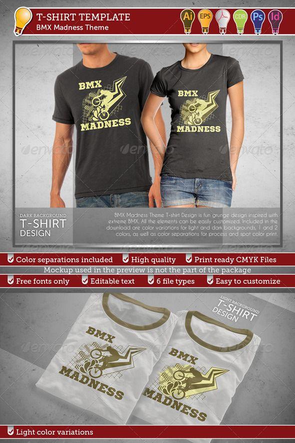 Download Bmx Madness Theme T Shirt Design T Shirt Shirt Designs Tshirt Designs