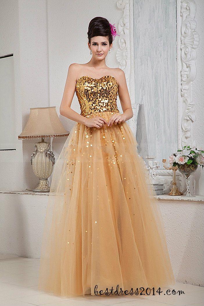 prom dress prom dresses | Fashion | Pinterest | Gold prom dresses ...