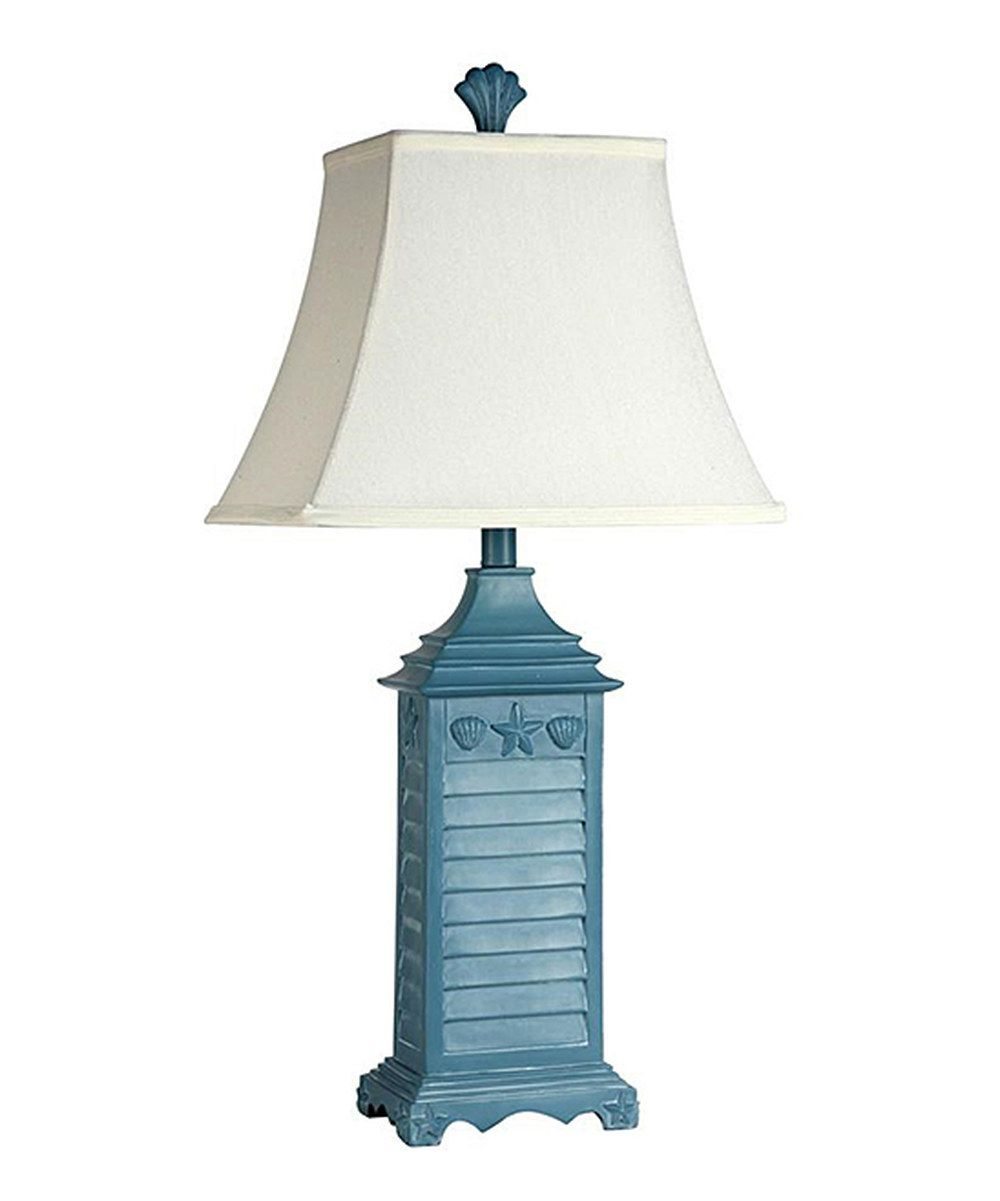Look At This Blue Beach House Table Lamp Finial On Zulily Today Blue Table Lamp Table Lamp White Table Lamp