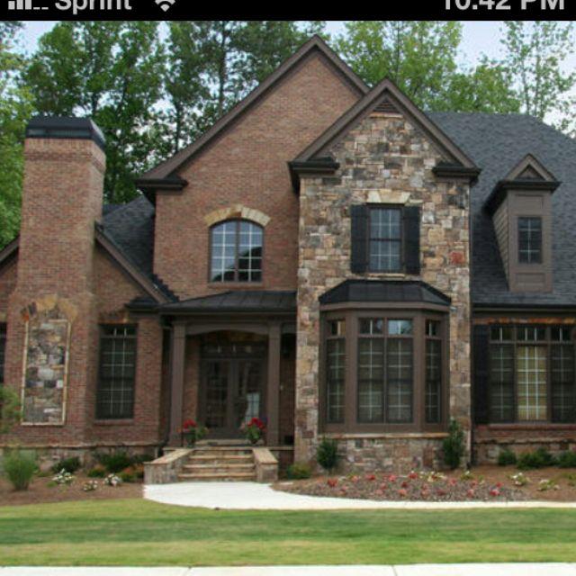 Brick And Stone Exterior Perfect Brick Exterior House Black