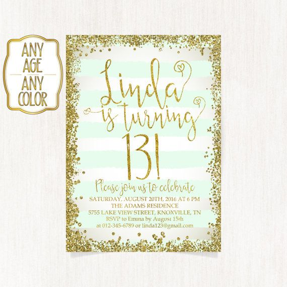 13th birthday invitation Thirteenth birthday party by CoolStudio – Invitations for 13th Birthday Party