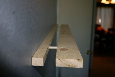 How To Make A Floating Shelf Using Only A 2x4 Or 2x6