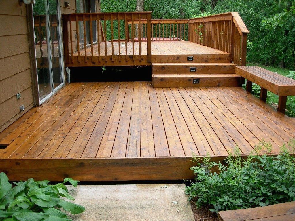 Split level deck | 1000 in 2020 | Patio design, Backyard ... on Split Level Backyard Ideas id=38914