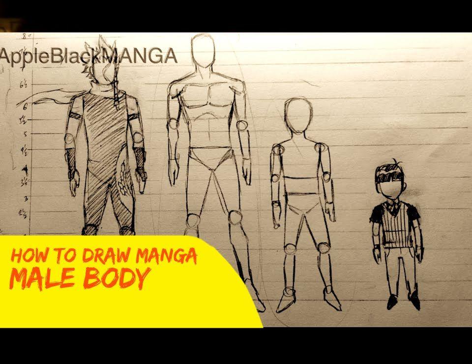 How To Draw Manga Male Proportions By Whyt Manga Creator Of Appleblack Manga Drawing Male Body Character Design Male