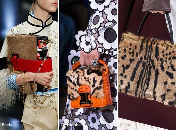 Spring/ Summer 2017 Handbag Trends: Animal Printed & Fur Bags/ Purses