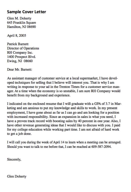 Example Of Customer Service Cover Letter  HttpExampleresumecv