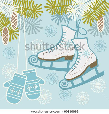 vintage ice skating sign - Google Search