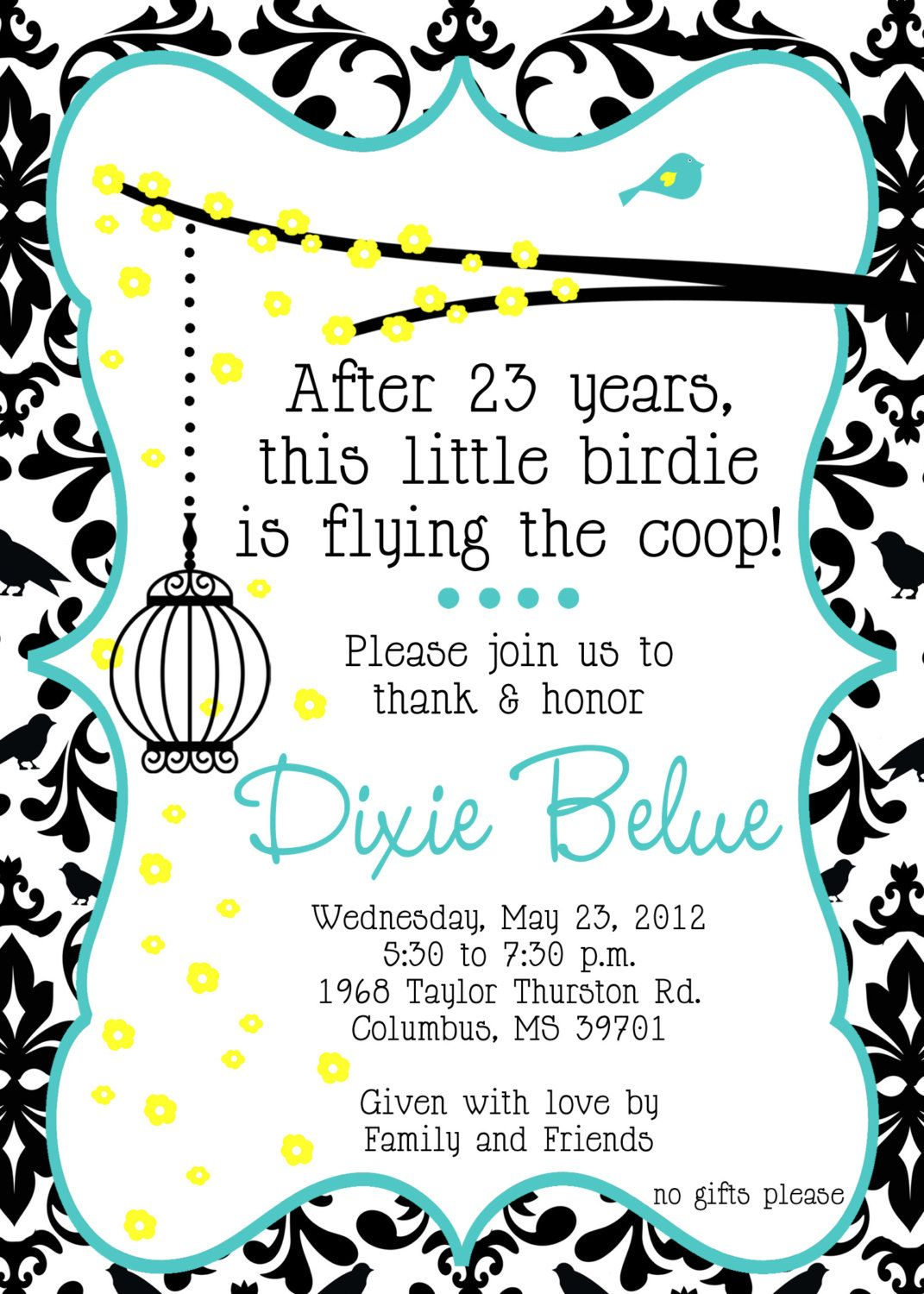 5x7 custom retirement party invitation jpeg file