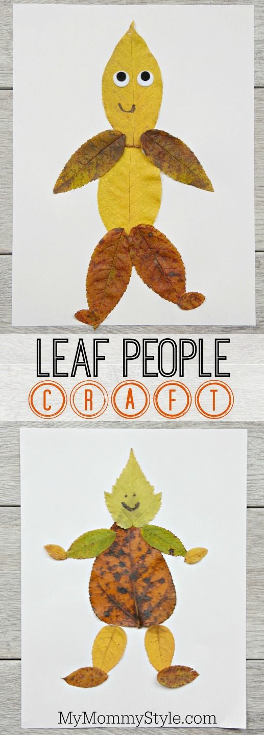 Fun and easy leaf people craft | My Mommy Style
