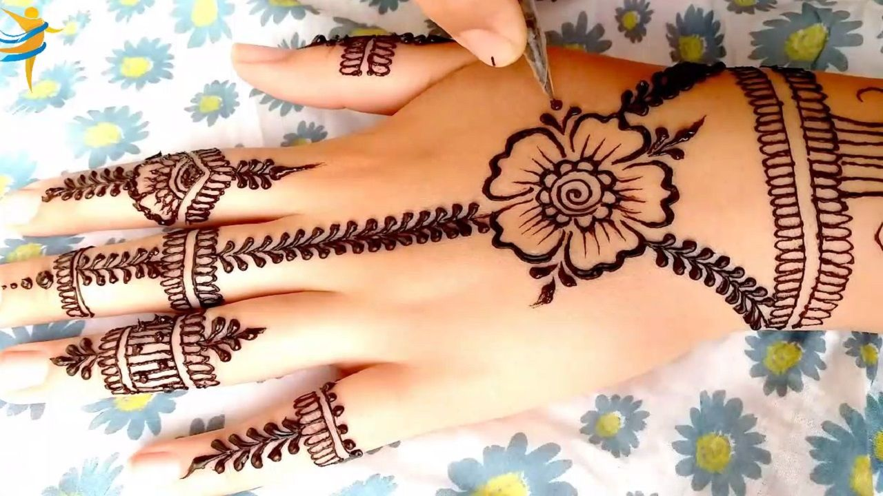 Most Beautiful Mehendi Design Front Hand Simple Designs For Hand نقش حناء سهل و في غاية الجمال Mehndi Designs Simple Mehndi Designs Henna Hand Tattoo