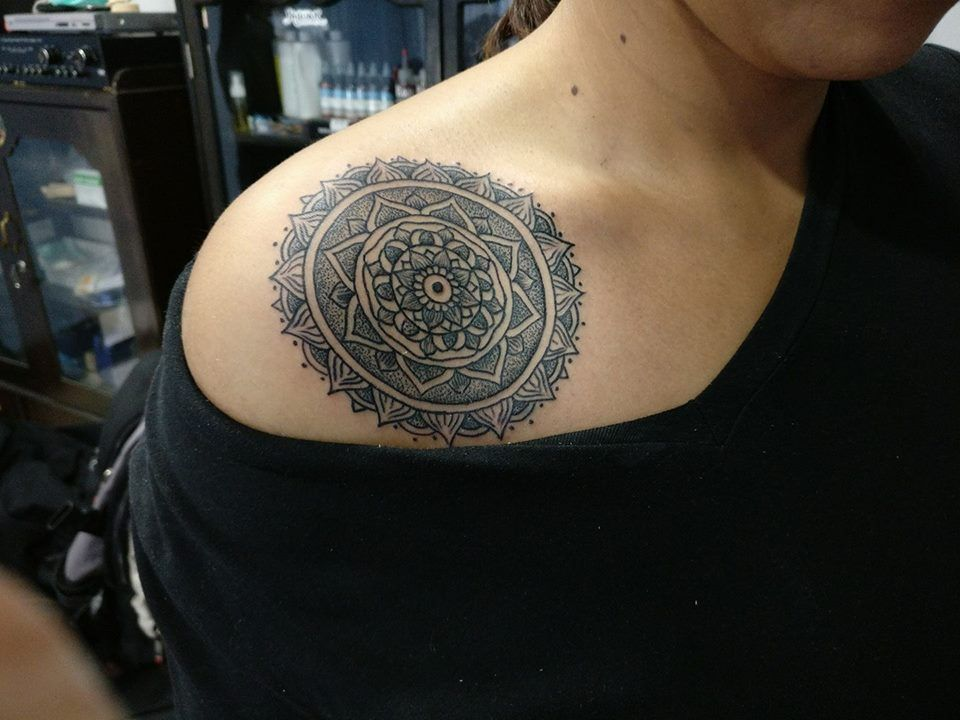 Nepal Tattoo Anands Tattoo Mandala Designs Lotus Mandala Line And Dot Work Tattoo Work Tattoos Lotus Mandala
