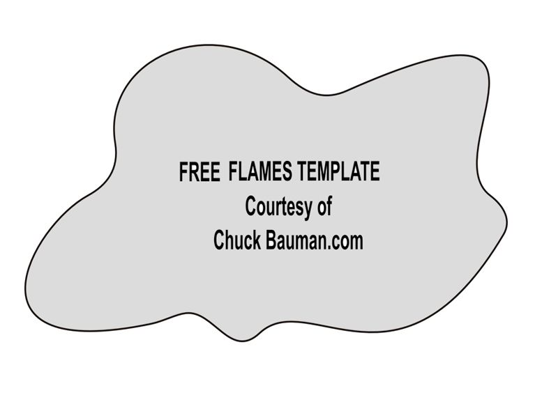 FREE!! Real Flames & Fire Airbrushing Templates Stencil