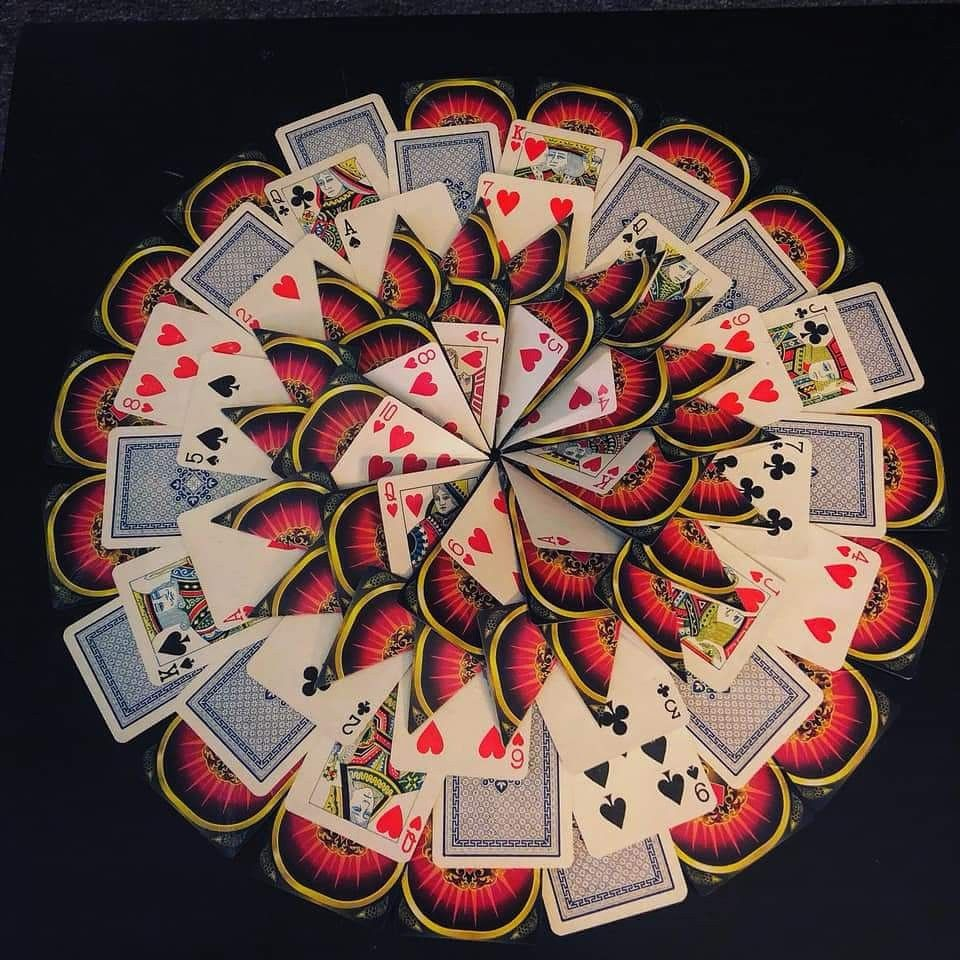 Deck of cards wreath 52 deckofcards playingcards