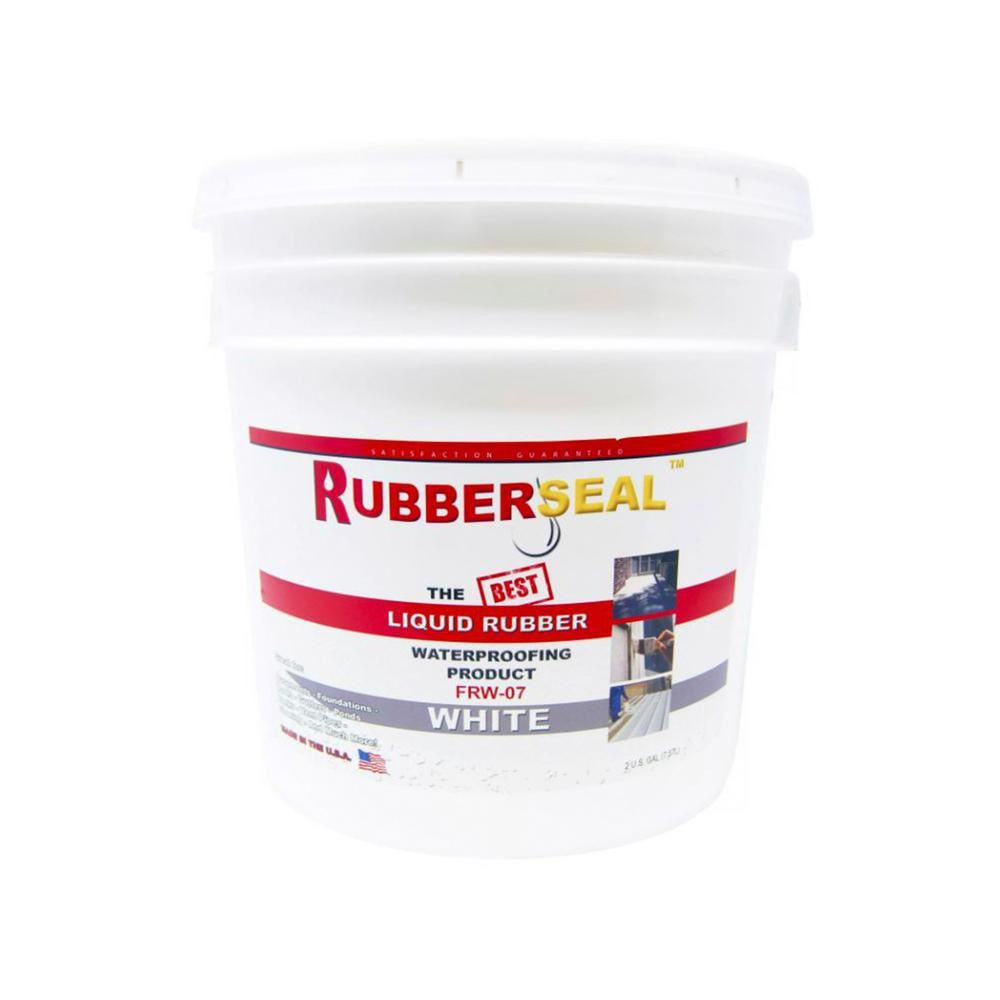 Rubberseal 2 Gal White Liquid Rubber 10005029 The Home Depot Liquid Rubber Volatile Organic Compounds Waterproof Paint