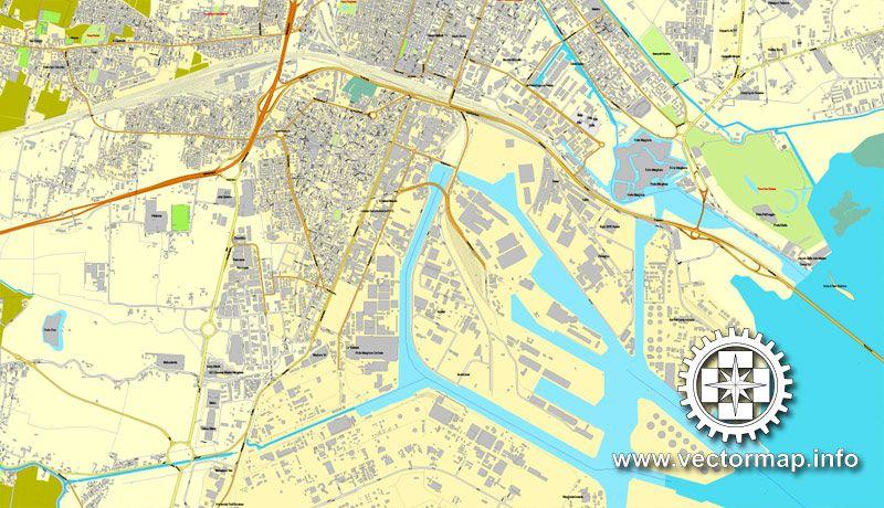 PDF Map Venice Venezia Italy Printable Vector Street Map City - Venice map printable