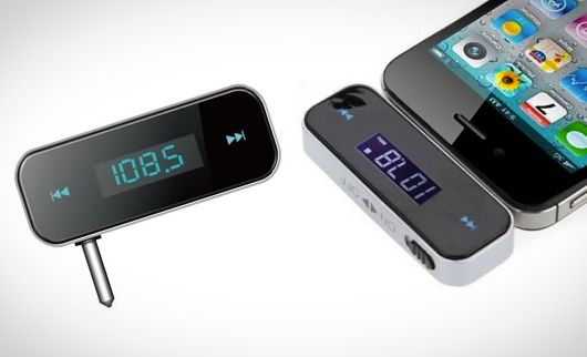 Wireless FM Transmitter for iPhones, iPods, iPads and More Play Your Music in the Car Radio from Your Phone