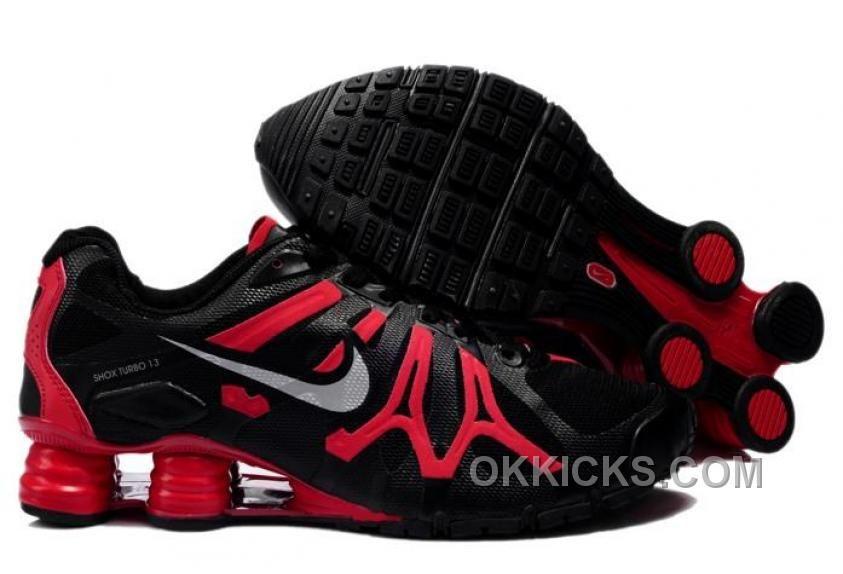 New Nike Shox Turbo+13 Shoes Black Red
