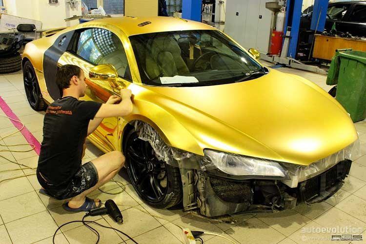 Matt Gold Audi R8 in Russland #audir8 Matt Gold Audi R8 in Russland  #AudiR8 #audir8