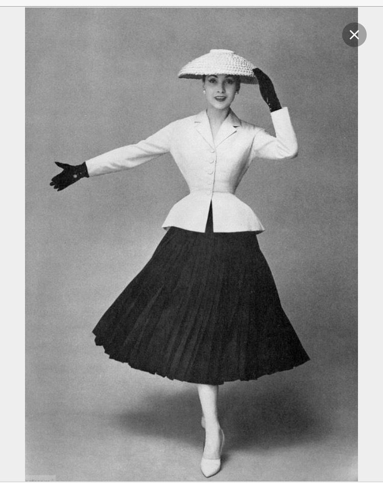 Vintage Fashion 1950s, Christian Dior