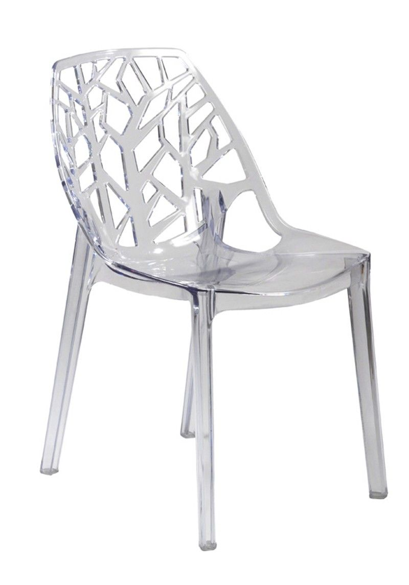 Modern Furniture Acrylic Dining Chairs With Classic Style Using