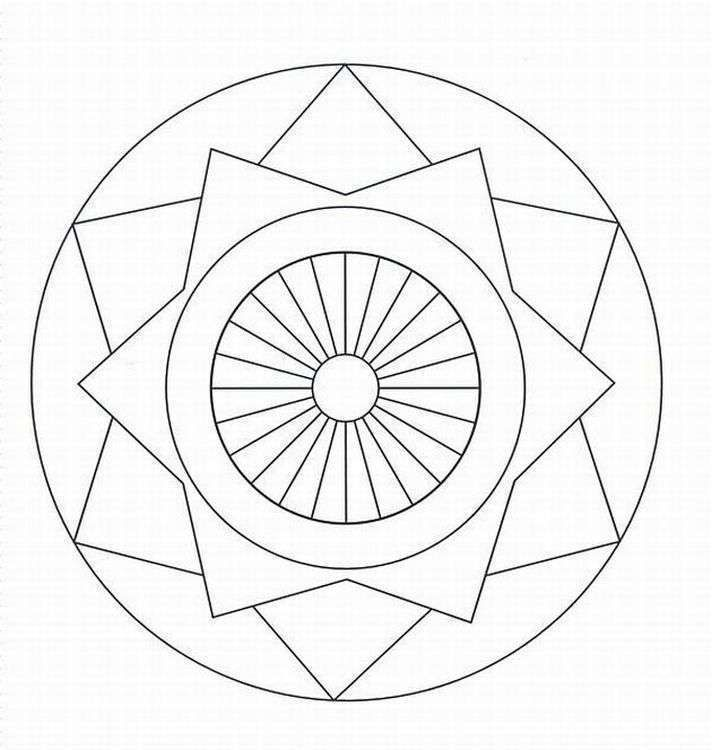 beautiful geometrical design coloring book contemporary geometric coloring pages kids - Geometric Coloring Pages Kids