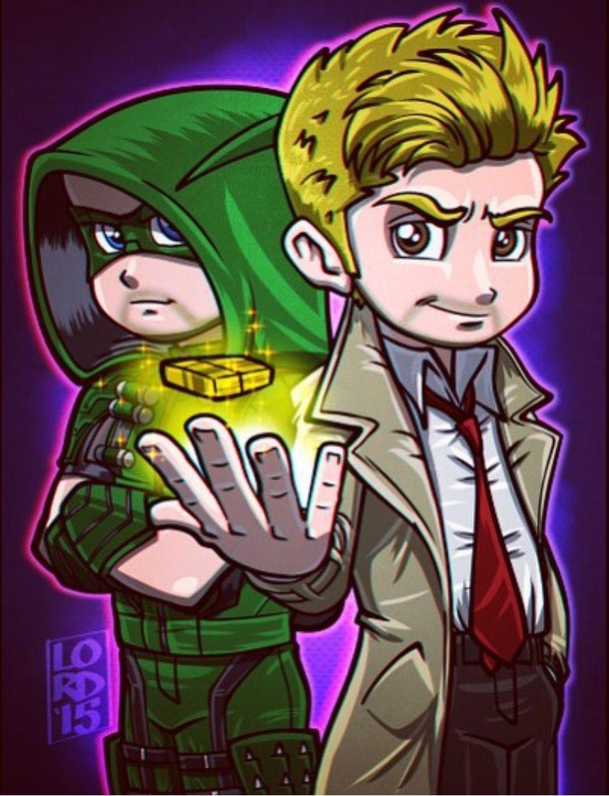 Oliver Queen Tattoo From Constantine: Oliver Queen (Green Arrow) & John Constantine (Hellblazer