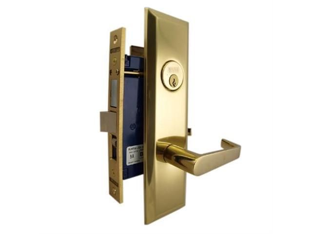 Marks 116a Entrance Metro Apartment Mortise Lockset W Lever Handle Door Lock Security Double Cylinder Deadbolt Lever Handle
