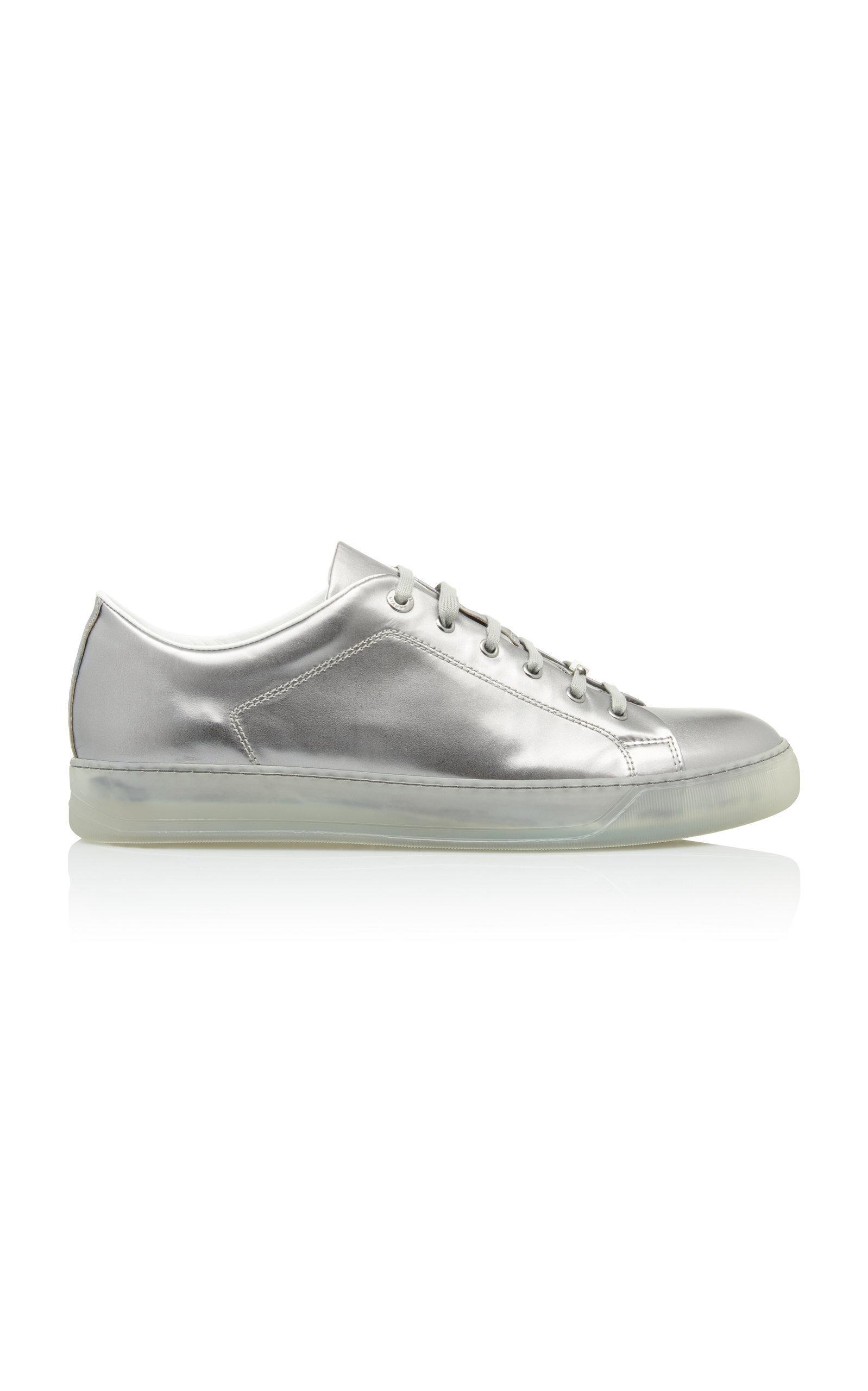 Mens designer shoes, Metallic leather