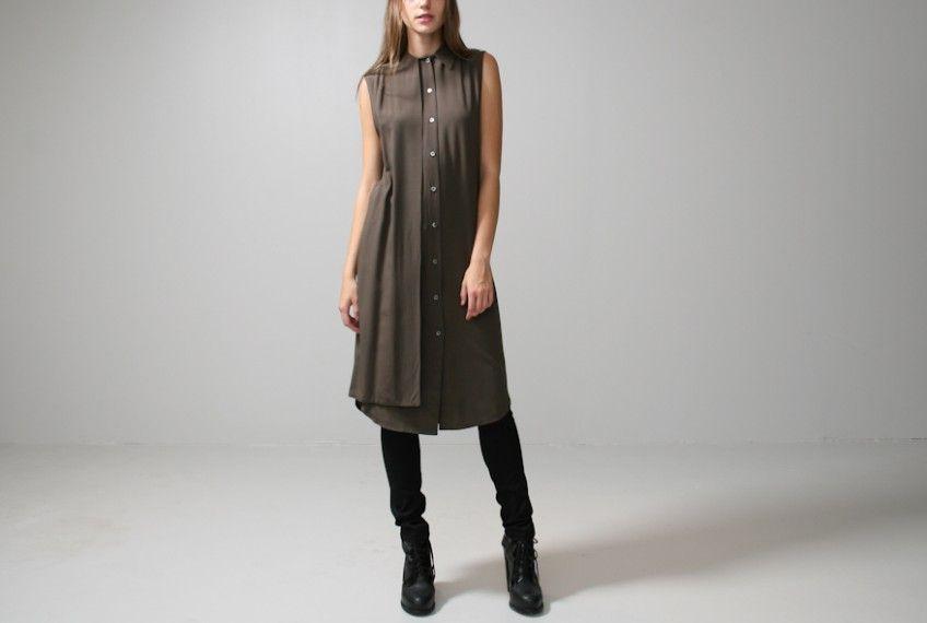Oak | oak gunflap shirt dress Oak