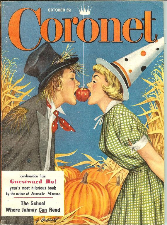 reserved for els79 vintage october 1954 coronet magazine halloween - Halloween Magazines