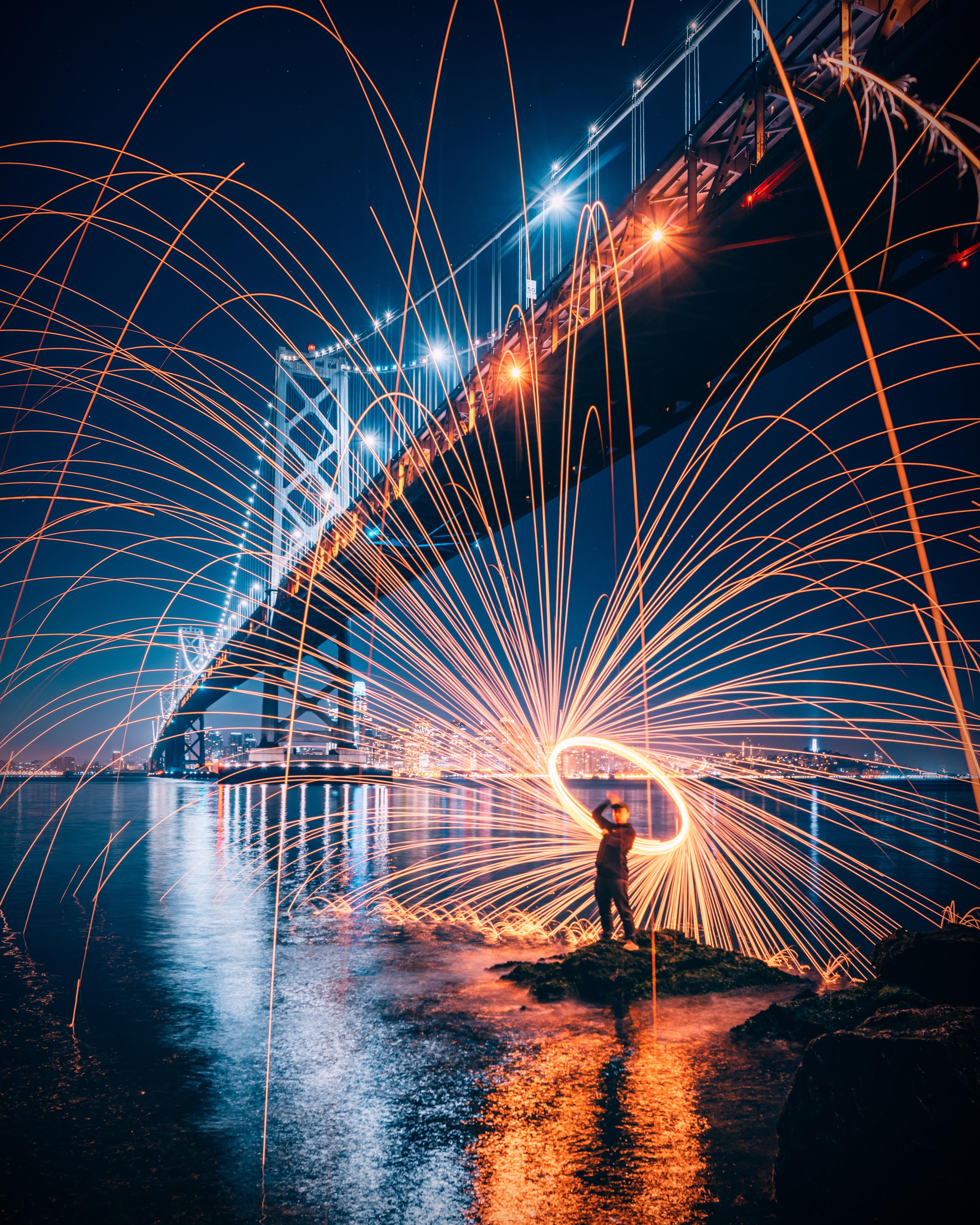 Itap Of A Firebender Light Painting Photography Steel Wool Photography City Life Photography