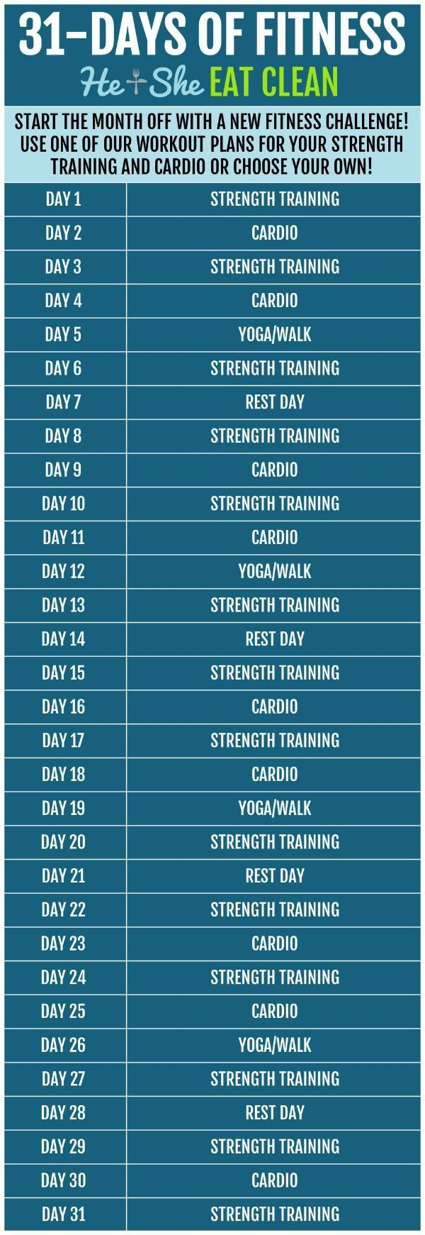 31 Tage Fitness - New Ideas #fitnesschallenges #fitness #Tage 31 Days of Fitness        Beginnen Sie...