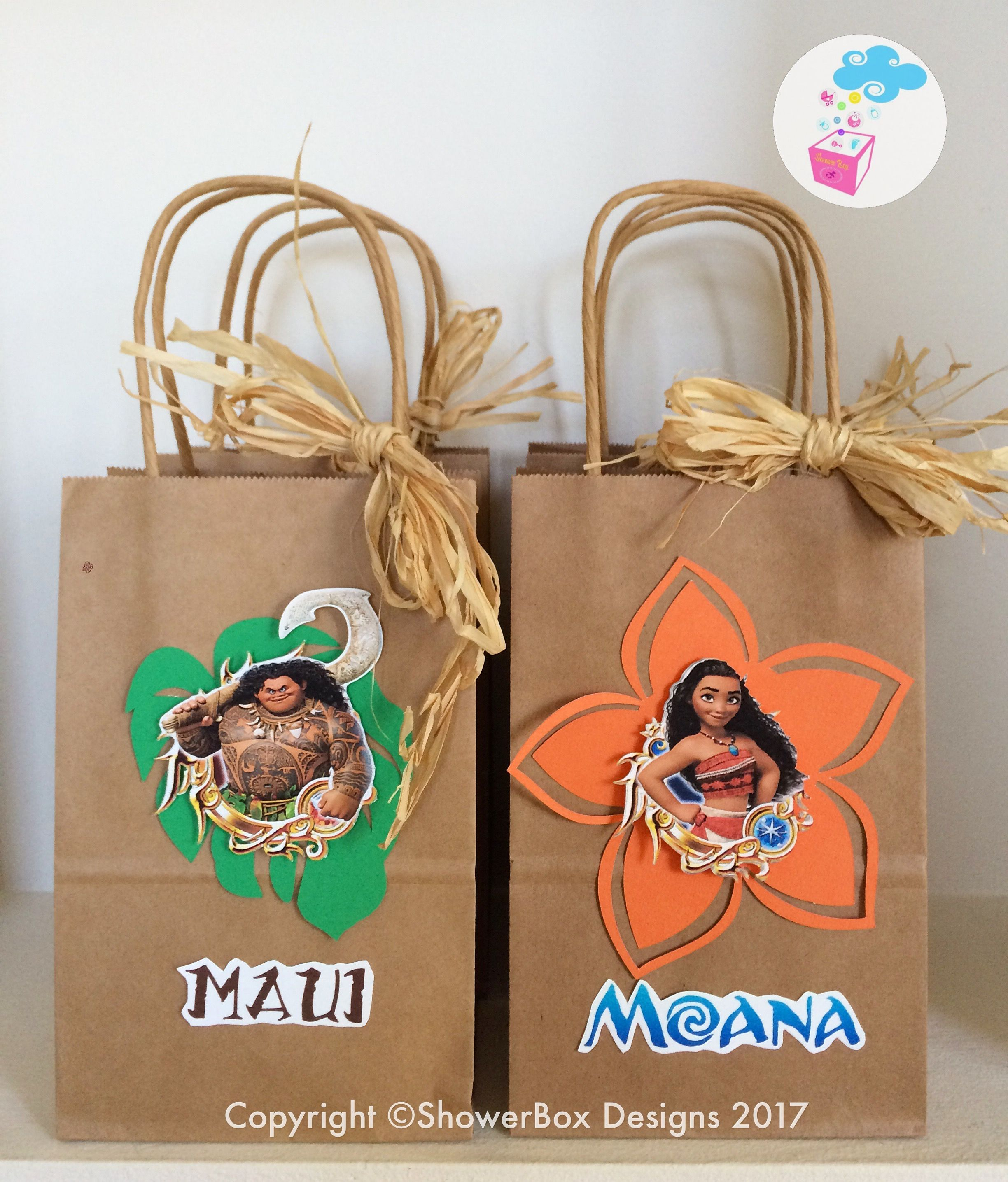 Moana Birthday Favor Bags ShowerBox Events Like Us On FB Moanabirthday Myshowerbox