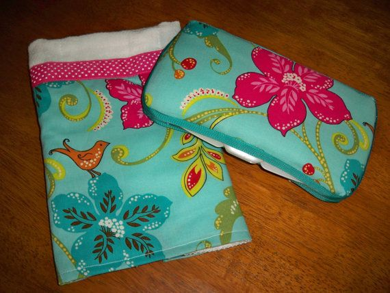 Baby Girl Bird and Flower Fabric Covered by grinsandgigglesbaby1, $16.50