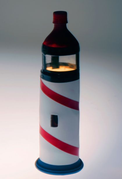 Turn A Plastic Water Bottle Into A Decorative Lighthouse