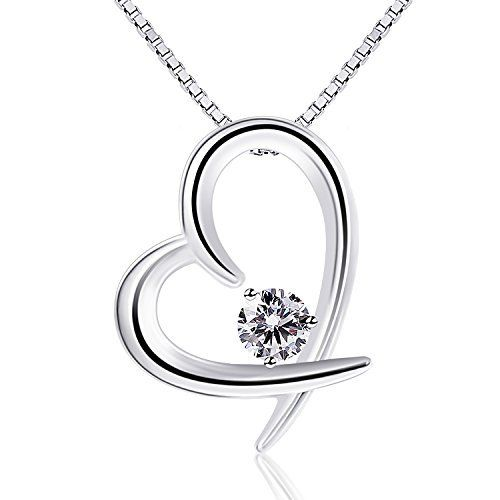 Brilla Women Fine Jewelry 925 Sterling Silver Pendant Necklace Rose Gold 'Miss Cat' QNOW6wI