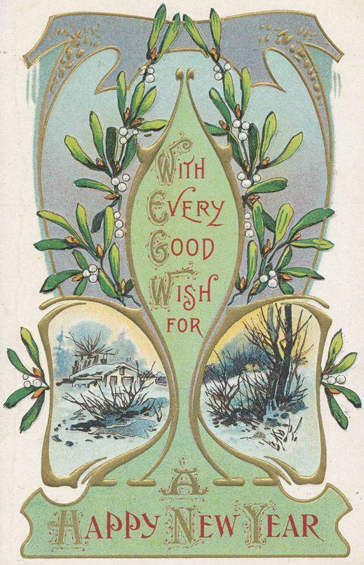 Happy New Year Vintage Greeting Cards Vintage Happy New Year Vintage Cards