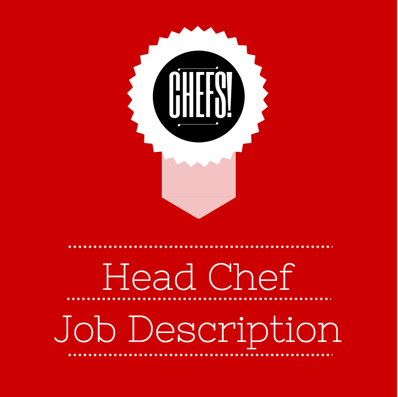 Head Chef Job Description | For Chef Employers | Pinterest