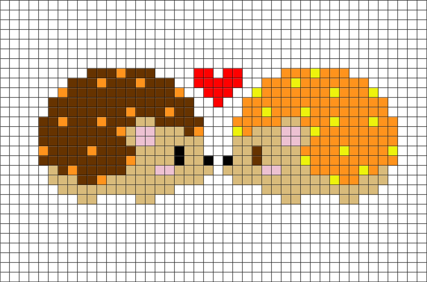 Hedgehog Pixel Art Point De Croix Mignon Animaux De Point