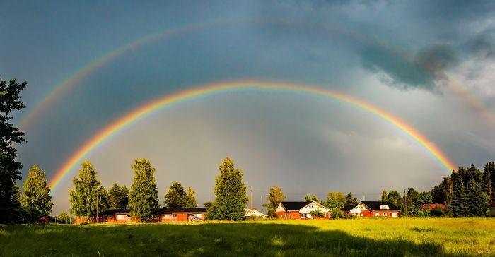 Double rainbow, Finland K-P Wilska