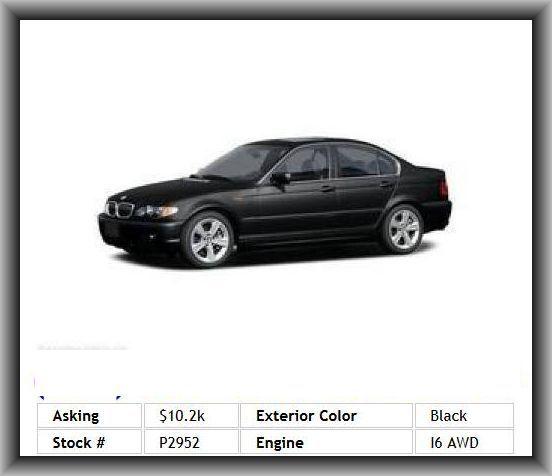2005 BMW 3 Series 325xi Sedan External Temperature Display