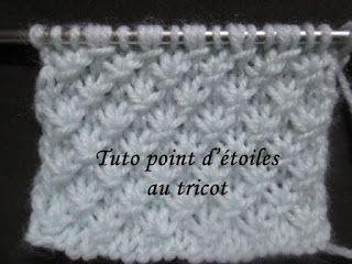 chale tricot point fantaisie