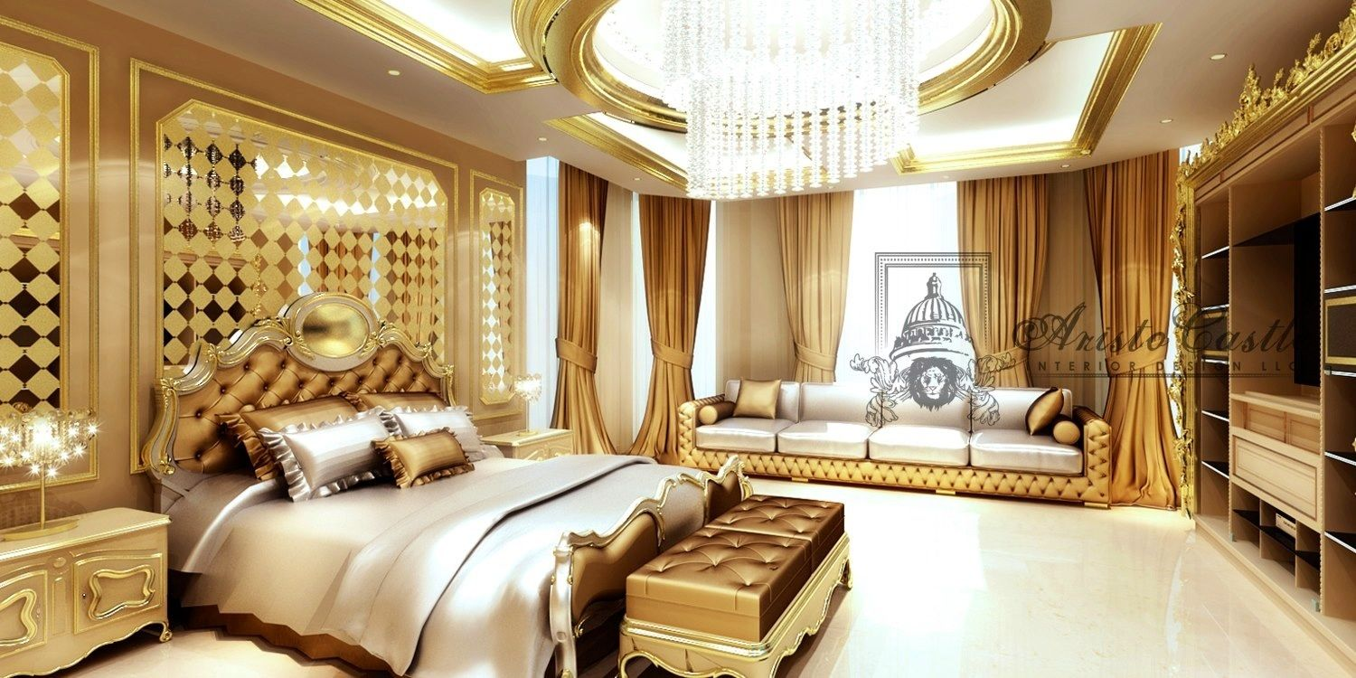 Luxurious Dream Home Master Bedroom Suite Seating Mansion